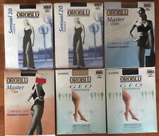 6 Pairs Oroblu Nylon Pantyhose Tights Medium & Large