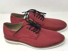 Calvin Klein AGGUSSIE NYLON Red Mens Size 9.5 M Oxfords CASUAL Shoes