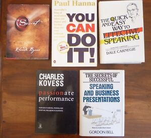 5 SELF HELP BOOKS - The Secret, You Can Do It,Quick & Easy Way to Effective Spea