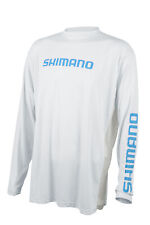 Shimano Fishing Shimano Long Sleeve Tech Tee Color - White Size - Lg