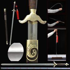 ShenWu TaiChi Sword Martensiti stainless steel Ridged Blade Free lettering #020