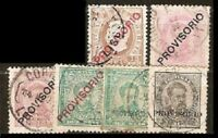 Portugal LOT Sc 79 80 82 to 87 used  FVF  See DESCRIPTION SCAN