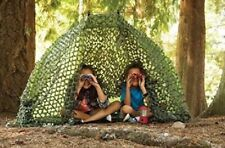 Outdoor Discovery Camo Net Pretend & Play Outdoor Shelter Tent Cover Green New