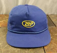 Zep Cleaner Embroidered Trucker Blue Mesh Adjustable Snapback Hat / Vintage Cap