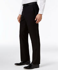 $200 KENNETH COLE REACTION men BLACK TUXEDO SLIM FIT FLAT FRONT DRESS PANTS 29 W