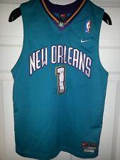 New Orleans Hornets #1 Baron Davis Nike NBA Basketball SEWN Jersey Youth L