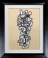 Jean Dubuffet LITHOGRAPH Vacuum Forms 1973 Limited EDITION -  w/Archival Frame