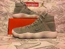 6439272945d50 Nike Hyperdunk 2017 Flyknit Pale Grey Metallic Silver 917726-002 Men s Size  11