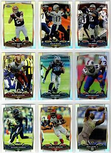 2014 Topps Chrome Football Refractor Parallel You Pick the Card Finish Your Set