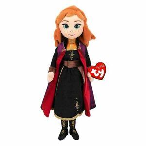"""Ty Beanie Babies Disney Frozen 2 Anna with Sound Medium 14"""" 39cm gift"""