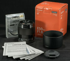 Sony SEL50F18 50mm f/1.8 Lens for Sony E Mount (Black) - Great Condition w/ Box