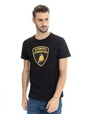 LAMBORGHINI Men's Large Shield T-Shirt, Black