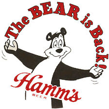 "Hamm'S ""The Bear Is Back"" Beer T Shirt Small-Xxxlarge (F)"
