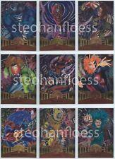 1995 Fleer Marvel Metal Avengers X-Men Base Card You Pick, Finish Your Set 1-138