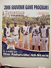 DEXTER FOWLER signed RARE CUBS 2006 ASHEVILLE baseball program AUTO ERIC YOUNG