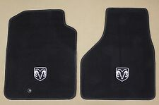 RAM Truck Replacement Factory Front Floor Mats Carpet Logo Mopar OEM Dark Slate