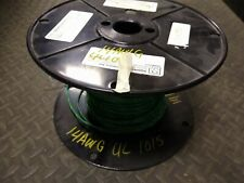 14 AWG Gauge Solid Hook Up Wire UL1015 600 Volts GREEN/YEL ~250 ft 6lb Spool