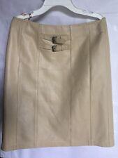 Vakko sport Skirt  100% Lamb Leather Beige Size 4