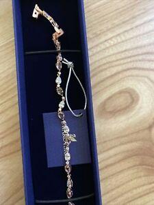 Genuine Swarovski Vintage Rose Pear Bracelet Rose Gold Tone RRP £129  NEW