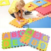 36PCS Kid Puzzle Baby Play Mat Foam Blanket Alphabet Numbers Puzzle Jigsaw