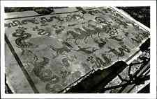 Italia, Ostia, Mosaico di Nettuno nella sala d'ingresso alle Terme  Vintage
