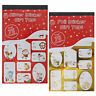 75+ Christmas Sticker Gift / Present Tags - Traditional or Cute Designs