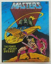 Vintage 1982 Mattel MOTU He-Man The Power of...Point Dread! Mini Comic Book