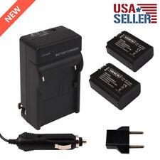2pcs NP-FW50 Batteries + NEX-7 NEX-3D Charger for SONY NEX-5C NEX-C3 Alpha A3000