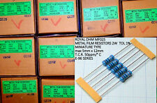5 pezzi Resistenze 6,2 K Ohm, 2W, 1%, a strato metallico ROYAL OHM MF02S 6K2