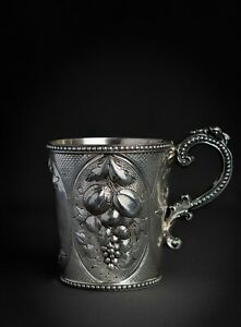 EARLY COIN SILVER CUP/MUG CANFIELD BROS