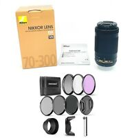 NEW. Nikon AF-P DX NIKKOR 70-300mm f/4.5-6.3G ED VR Super-Telephoto + Filter set
