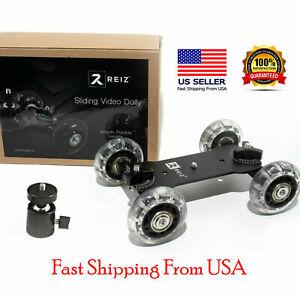 Desktop Camera Skater Dolly Stabilizer Video Slider Rail Track with Ball Head