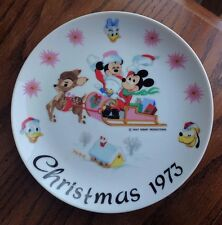 Vintage Schmid Walt Disney's Limited Edition 1st in Series 1973 Christmas Plate