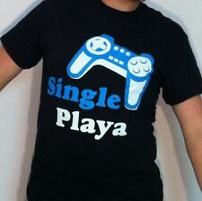 "BE THE CHANGE Clothing Made in Seattle ""Single Playa"" Gamer tee"