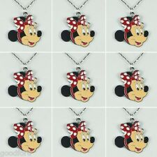 LOTS 9pcs DISNEY MINNIE MOUSE GIRLS NECKLACES BIRTHDAY PARTY FAOVR GIFTS BIN