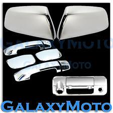 07-14 TUNDRA DOUBLE CAB Chrome HALF Mirror+4 Door Handle+Tailgate Camera Cover