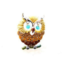 "1.25"" Brown Owl Brooch"