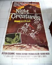 Horror Original US One Sheet Film Posters (Pre-1970)