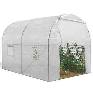 Serre tunnel de jardin 6M² blanche gamme maraichère ROMA 2x3M