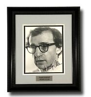 WOODY ALLEN SIGNED 8X10 JSA COA PHOTO FRAMED AUTOGRAPH ZELIG MANHATTAN