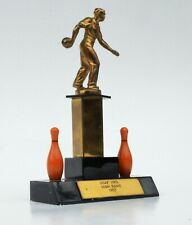 Mid Century Bakelite Bowling Trophy 1957