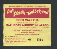1981 Ozzy Blizzard of Ozz Motorhead Sabbath concert ticket stub Randy Rhoads