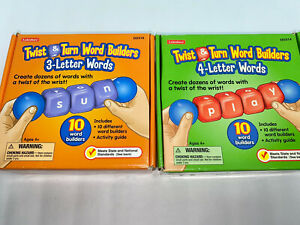 Twist & Turn Word Builders 3 & 4 Letter Words 2 pc Lot by Lakeshore