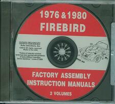 1976 1980 PONTIAC FIREBIRD/TRANS AM  ASSEMBLY MANUAL ON CD