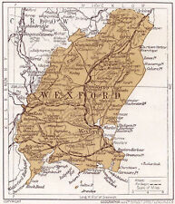 1923 map of Ireland: County Wexford antique ready-mounted print SUPERB