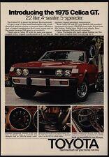 1975 TOYOTA Red CELICA GT 2.2 Liter Sports Car VINTAGE AD