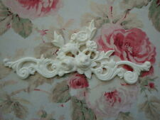 Rose Floral & Scroll Furniture Applique Architectural Pediment