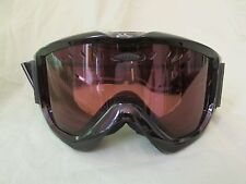Smith Snow Goggles Gloss Black with Amber Lens Carrying Bag Included Snowboard