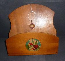 Ancien porte document, déco de chalet montagne, art populaire Savoie old  french