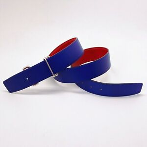 Handmade 38mm Reversible Replacement Leather Belt Size 110 Free Shipping